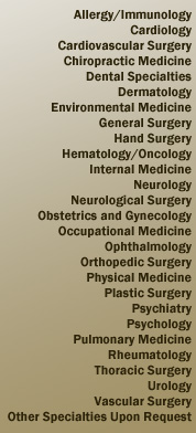 US Evaluations, LLC Specializes in a Large Variety Medical Areas
